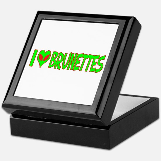 I Love-Alien Brunettes Keepsake Box