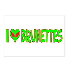 I Love-Alien Brunettes Postcards (Package of 8)