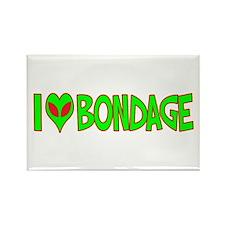 I Love-Alien Bondage Rectangle Magnet