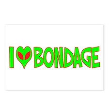 I Love-Alien Bondage Postcards (Package of 8)