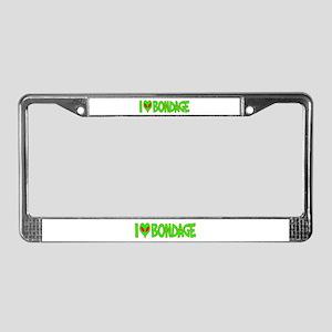 I Love-Alien Bondage License Plate Frame