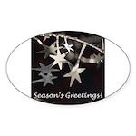 Season's Greetings - Stars Oval Sticker (50 pk)