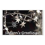 Season's Greetings - Stars Rectangle Sticker 10 p