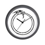 Ouroboros Symbol Wall Clock