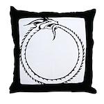 Ouroboros Symbol Throw Pillow
