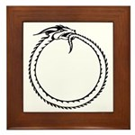 Ouroboros Symbol Framed Tile