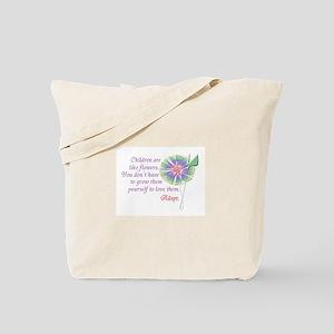 Adoption Flowers Tote Bag
