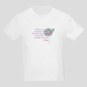 Adoption Flowers Kids Light T-Shirt