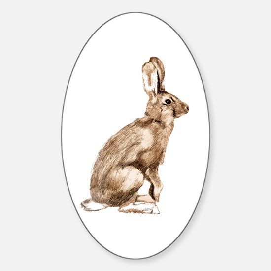 Curious Rabbit Sticker (Oval)