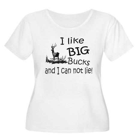 BIG Bucks Women's Plus Size Scoop Neck T-Shirt