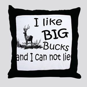 BIG Bucks Throw Pillow