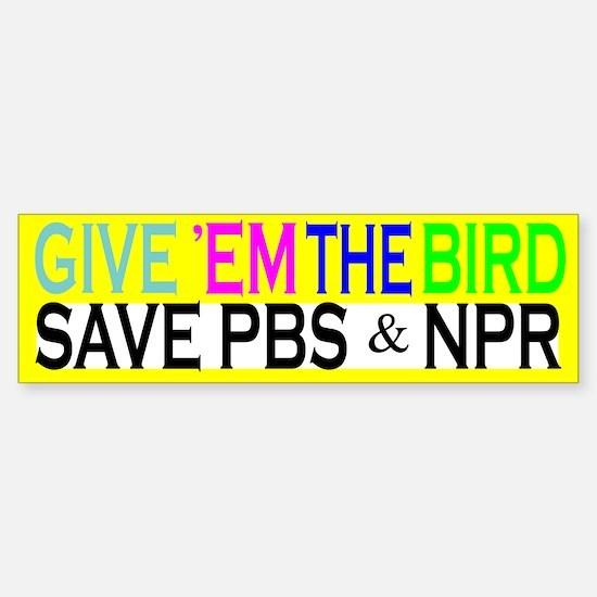 Save PBS Bumper Bumper Bumper Sticker