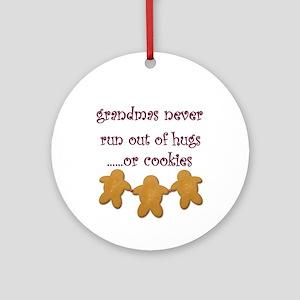 Grandmas HugsTile Art Ornament (Round)