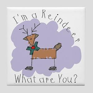 Funny Reindeer Tile Coaster
