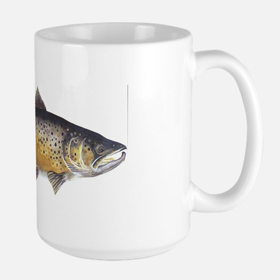 Brown Trout Art Large Mug