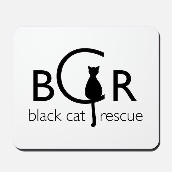 Black Cat Rescue Mousepad