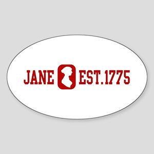 Jane Est.1775 Oval Sticker