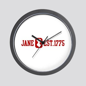 Jane Est.1775 Wall Clock