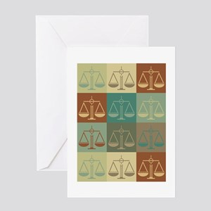 Law Pop Art Greeting Card