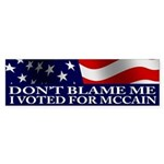 I voted for McCain Bumper Sticker