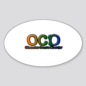 Obsessive Conure Disorder Oval Sticker