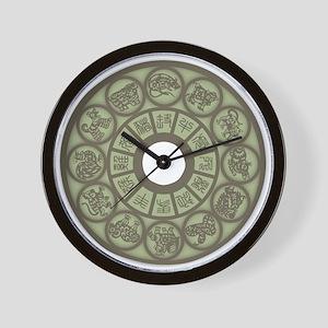 Chinese Zodiac Coin Wall Clock