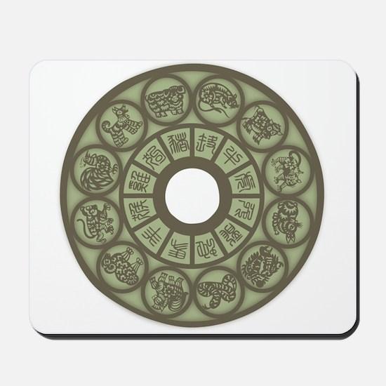 Chinese Zodiac Coin Mousepad