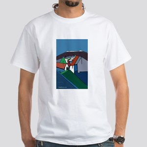 Abstract Village II White T-Shirt