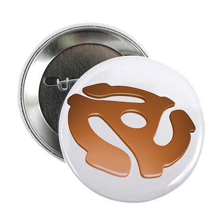 "Orange 3D 45 RPM Adapter 2.25"" Button (10 pack)"