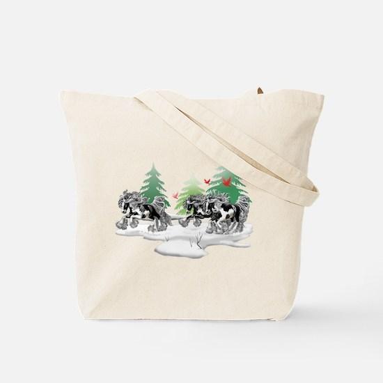 Gypsy Vanner Winter Tote Bag