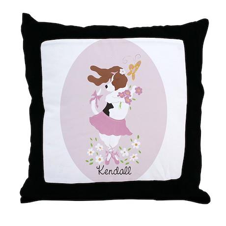 Basset Ballerina Kendall Throw Pillow
