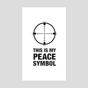 Peace Symbol Rectangle Sticker