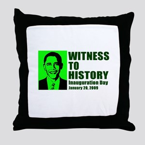 Witness to History Throw Pillow
