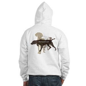 Weimaraner the gray ghost Hooded Sweatshirt