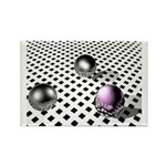 Losing One's Marbles Rectangle Magnet