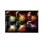 Abstract Color Cube Rectangle Magnet