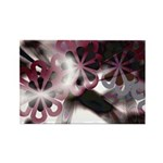 Abstract Flower Shapes Rectangle Magnet