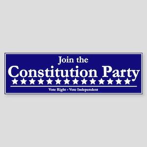 Constitution Party Bumper Sticker
