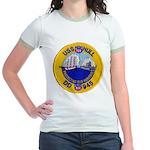 USS HULL Jr. Ringer T-Shirt
