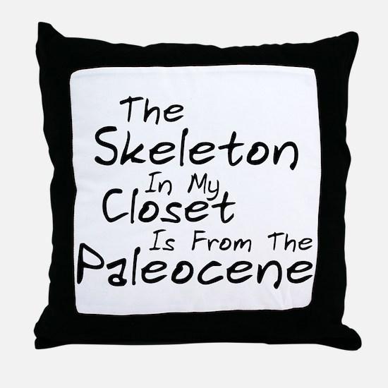 Paleocene Humor Throw Pillow