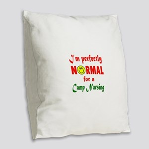 I'm perfectly normal for a Cam Burlap Throw Pillow