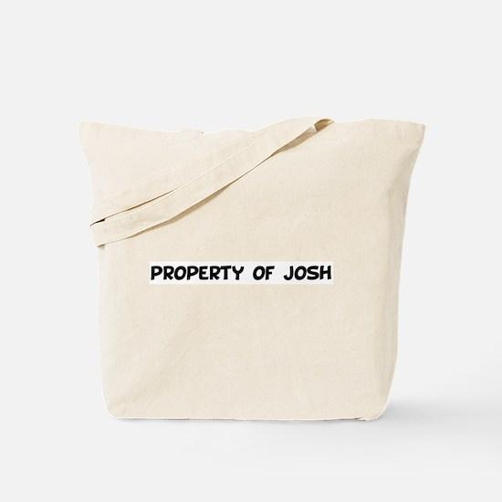 property of josh Tote Bag