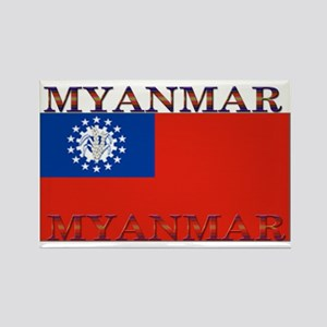Myanmar Rectangle Magnet