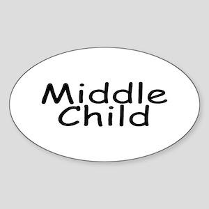 Middle Child Oval Sticker
