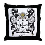 Caro Family Crest Throw Pillow