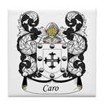 Caro Family Crest Tile Coaster