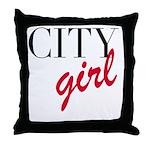 City Girl Throw Pillow