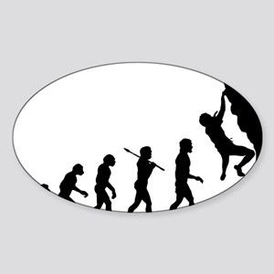 Rock Climber Oval Sticker