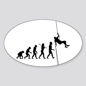 Rock Climber Oval Sticker