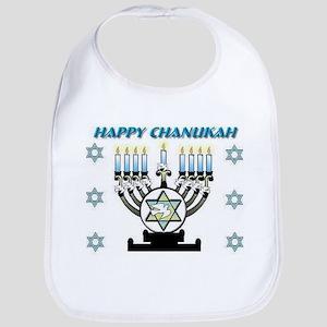 Happy Chanukah Menorah Bib